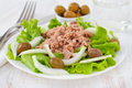 Tuna salad with olives Stock Photo