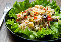Tuna salad with rice and vegetables Royalty Free Stock Photo