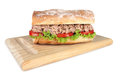 Tuna sandwich fresh with lettuce and tomato Royalty Free Stock Photography