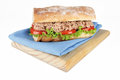Tuna sandwich fresh with lettuce and tomato Stock Photo