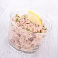 Tuna spread glass of gourmet Stock Image