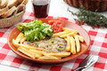 Tuna steak portuguese dish mediterranean diet traditional Stock Photography