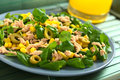 Tuna, Sweetcorn and Olive Salad Royalty Free Stock Photography