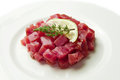 Tuna tartare Royalty Free Stock Photo