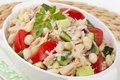 Tuna and White Bean Salad Royalty Free Stock Photo