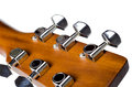 Tune guitar the to get the correct Royalty Free Stock Image