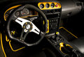 Tuned sport car interior Royalty Free Stock Image