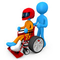 Tuned Wheelchair Royalty Free Stock Photos