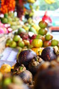 Tungsten fruit picture of displayed in traditional market pasar dago bandung Stock Image