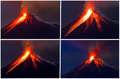 Tungurahua volcano eruption collage see my other works in portfolio Royalty Free Stock Photo