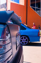 Tuning car at emma – in lviv european mobile media association ukraine Stock Images
