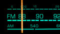 Tuning into mhz fm on an old s radio receiver Stock Images