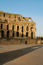 Tunis antique city of el jem coliseum Royalty Free Stock Photography