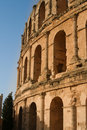 Tunis antique city of el jem coliseum Royalty Free Stock Photos