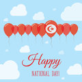 Tunisia National Day Flat Patriotic Poster.