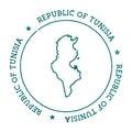 Tunisia vector map.