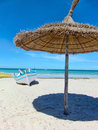 Tunisian beach Royalty Free Stock Photo