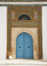 Tunisian door Stock Image
