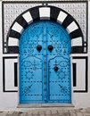 Tunisian door Royalty Free Stock Photos