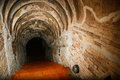 Tunnel background and business concept tunnel with old brick the end of tunnel and concept business successfully mystery tunnel or Stock Photos