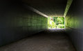 Tunnel on the fallow land Royalty Free Stock Photo
