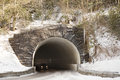 Tunnel in great smoky mountains national park mountain the the winter near gatlinburg tennessee Stock Photos