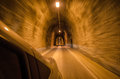 Tunnel from inside the car Royalty Free Stock Photo