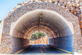 Tunnel in a mountains crete greece Stock Photography
