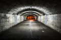 Tunnel passage in gibraltar to the main square casemates Royalty Free Stock Images