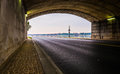 Tunnel on a road along the Potomac River in Washington, DC. Royalty Free Stock Photo