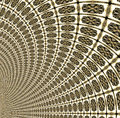 Tunnel tiled in gold Royalty Free Stock Photo