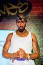 Tupac Shakur wax figure at Madame Tussauds San Francisco Royalty Free Stock Photo