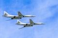 2 Tupolev Tu-22M3 (Backfire) supersonic bombers