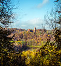 Turaida castle over picturesque autumn landscape sigulda latvia Stock Photography