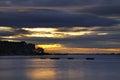 Turawskie Lake in the evening. Poland Royalty Free Stock Photo