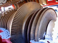 Turbine blades open motor with exposed metal Royalty Free Stock Image