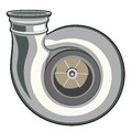 Turbine turbocharger on a white background illustration clip art Royalty Free Stock Images