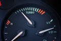 Turbo boost indicator dashboard close up Royalty Free Stock Images