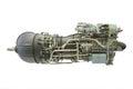 Turbo jet engine under the white background Royalty Free Stock Photo