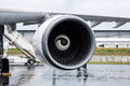 Turbofan engine of the aircraft for simulate of the effects zero gravity airbus a zero g berlin germany june exhibition ila berlin Royalty Free Stock Image