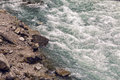 turbulent water in the river Royalty Free Stock Photo