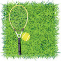 Turf game tennis vector illustration Stock Photos