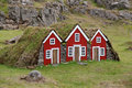 Turf House For Elf In Iceland.