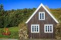 Turf house traditional icelandic on a farm Stock Photos