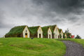 Turf houses beautiful in glaumbaer in iceland Stock Image