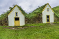 Turf houses traditional icelandic in west iceland Stock Image