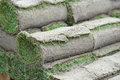 Turf rolls stack of rolled up turfs Royalty Free Stock Photos