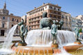 Turia Fountain Royalty Free Stock Photo
