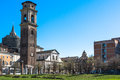 Turin cathedral bell tower and chapel of the holy shroud italy europe march Stock Images