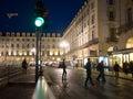 Turin Italy city Piazza Castello Royalty Free Stock Photo